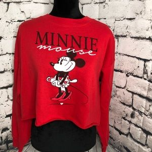 Disney's Minnie Mouse cropped sweatshirt L